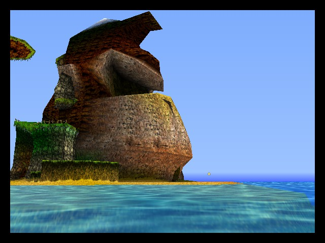 Donkey Kong 64 - What a lovely head-shaped island - User Screenshot